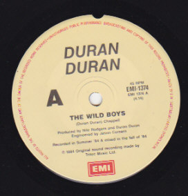 The Wild Boys /  I'm looking for cracks in the pavement 1984