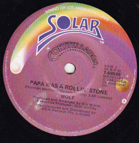 Papa Was A Rolling Stone / Window on a dream