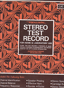 Realistic Stereo Test Record