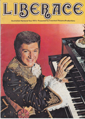 Liberace Australian 1973 Tour Program