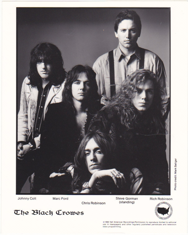 Black Crowes Publicity Press Photo