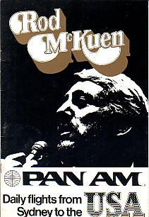 Rod McKuen 1975 Australian Tour Program